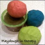 Playdough in Therapy