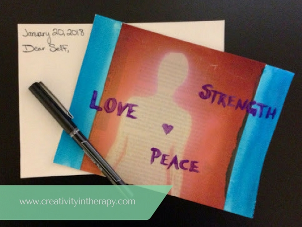 Postcard from Your Future Self | Creativity in Therapy | Carolyn Mehlomakulu