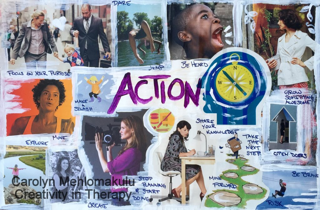 One Word Collage Directive | Creativity in Therapy | Carolyn Mehlomakulu