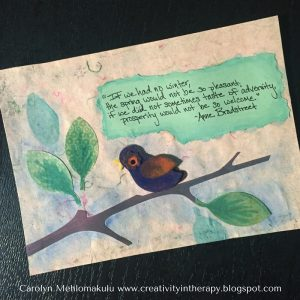 Random Acts of Art Bird | Creativity in Therapy | Carolyn Mehlomakulu