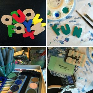 """Practice Random Acts of Art"" - artwork in progress 