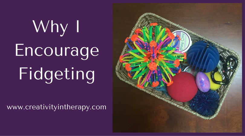 Why I Encourage Fidgeting | Creativity in Therapy | Carolyn Mehlomakulu