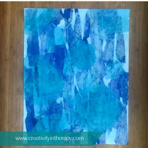 Creating Tissue Paper Collages | Creativity in Therapy | Carolyn Mehlomakulu