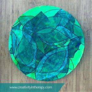 Tissue Paper Collage Mandala | Creativity in Therapy | Carolyn Mehlomakulu