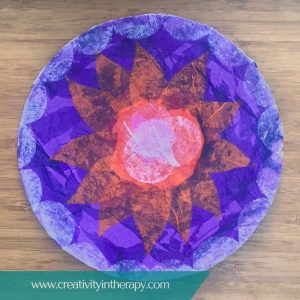 Tissue Paper Collage Mandala | Creativity in Therapy | Carolyn Mehlomakulu