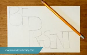 Intention Word Doodle | Creativity in Therapy | Carolyn Mehlomakulu