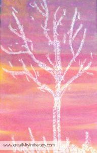 Watercolor & Oil Pastel Resist Painting in Art Therapy | Creativity in Therapy