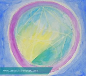 Music and Mindful Art (Creativity in Therapy) - art therapy directive to make art that responds to music