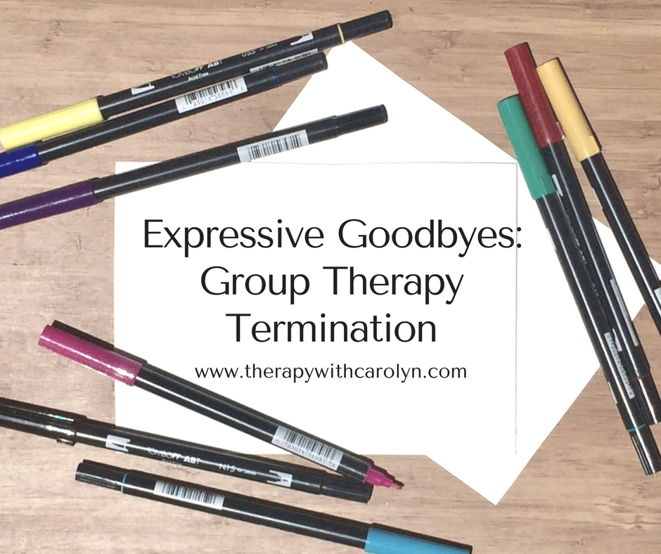 Expressive Goodbyes Group Termination Art Activity | Creativity in Therapy