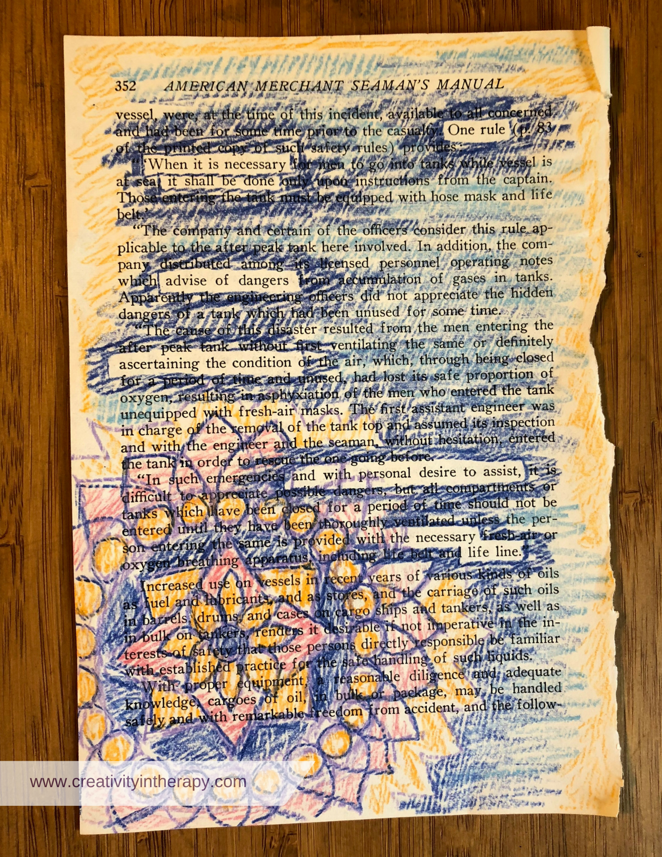 Blackout Poetry and Altered Books - Creativity in Therapy ...