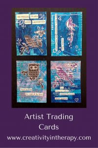 Making Artist Trading Cards | Creativity in Therapy | Carolyn Mehlomakulu