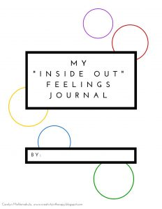 Inside Out Feelings Journal | Creativity in Therapy | Carolyn Mehlomakulu