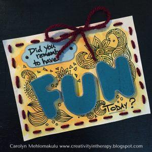 Random Acts of Art Fun | Creativity in Therapy | Carolyn Mehlomakulu