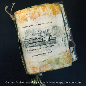 Random Acts of Art Passport | Creativity in Therapy | Carolyn Mehlomakulu