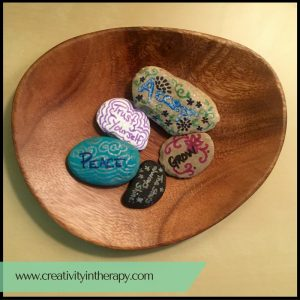 Inspiration Stones for Worry | Creativity in Therapy | Carolyn Mehlomakulu
