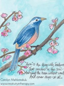 Hope-filled Art Postcard Swap | Creativity in Therapy | Carolyn Mehlomakulu