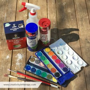 Salt & Watercolor Painting | Creativity in Therapy