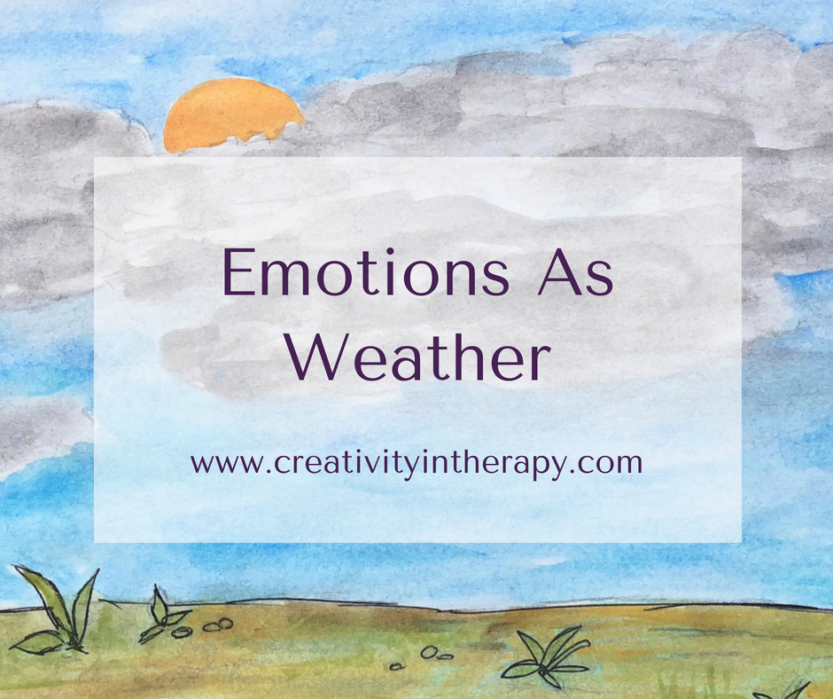 Emotions As Weather Art Therapy Directive